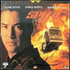 Keanu Reeves Speed Signed Laserdisc Cover PSA/DNA #J00712