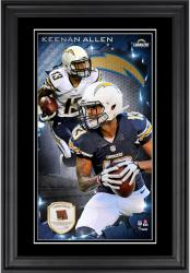 Keenan Allen San Diego Chargers 10'' x 18'' Vertical Framed Photograph with Piece of Game-Used Football - Limited Edition of 250 - Limited Edition of 250