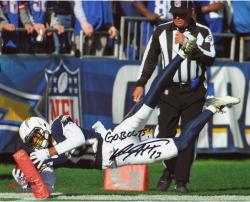 "Keenan Allen San Diego Chargers Autographed 08"" x 10"" Vertical Photograph with Go Bolts Inscription"