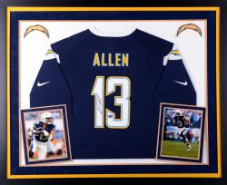 Keenan Allen San Diego Chargers Autographed Deluxe Framed Navy Blue Nike Game Jersey