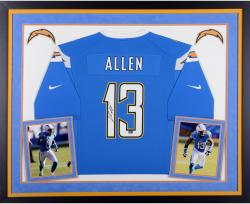 Keenan Allen San Diego Chargers Autographed Deluxe Framed Powder Blue Nike Game Jersey
