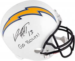 Keenan Allen San Diego Chargers Autographed Riddell Replica Helmet with Go Bolts Inscription