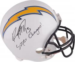 Keenan Allen San Diego Chargers Autographed Riddell Replica Helmet with Super Chargers Inscription