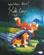 """Keith Coogan """"Young Tod"""" Signed Autographed 11x14 Photo JSA Fox and the Hound 7"""