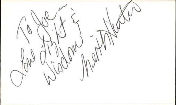 """KEITH HUNTER DIRECTOR Signed 3""""x5"""" Index Card"""