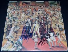 Keith Richards and Mick Taylor Autographed ROLLING STONES LP Record Album Cover