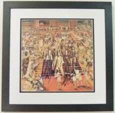 Keith Richards and Mick Taylor Autographed ROLLING STONES LP Record Album Cover BLACK CUSTOM FRAME