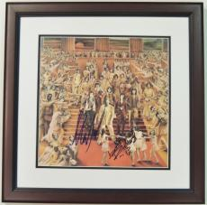 Keith Richards and Mick Taylor Autographed ROLLING STONES LP Record Album Cover MAHOGANY CUSTOM FRAME