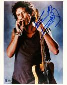 """Keith Richards Autographed 8"""" x 10"""" The Rolling Stones Smoking Photograph - BAS COA"""