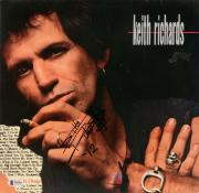 Keith Richards Autographed Talk is Cheap Album Cover - Beckett LOA