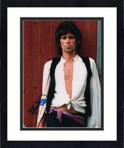 Keith Richards Autographed Signed Rolling Stones 11x14 Photo AFTAL