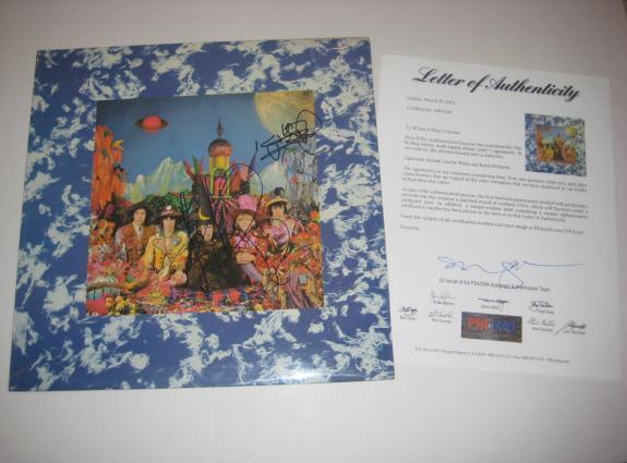 KEITH RICHARDS & CHARLIE WATTS Signed ROLLING STONES Album w/ PSA LOA