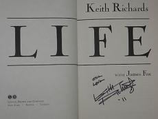 "KEITH RICHARDS of The Rolling Stones Signed ""One Love"" LIFE BOOK w/ PSA DNA Loa"