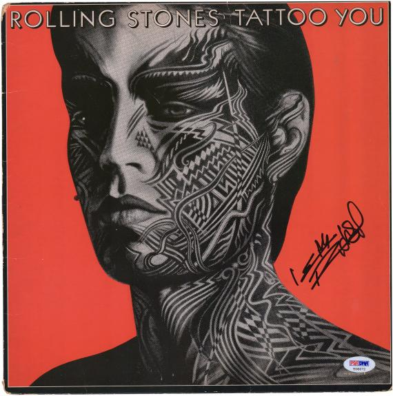 Keith Richards Rolling Stones Autographed Tattoo You Album - JSA