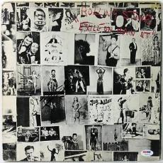 Keith Richards Rolling Stones Exile On Main St Signed Album Cover Psa #v10777