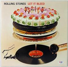 Keith Richards Rolling Stones Let It Bleed Signed Album Cover Psa/dna #v10780