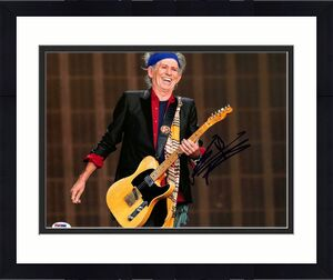 Keith Richards Rolling Stones Signed 11x14 Photo PSA/DNA #X00615