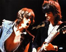 Keith Richards Rolling Stones Signed 16X20 Photo BAS #A00357