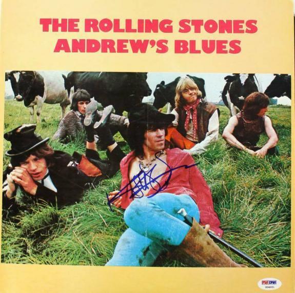 Keith Richards Rolling Stones Signed Album Cover Auto Graded 10! PSA/DNA #U04051
