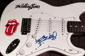 Keith Richards Rolling Stones Signed Autograph Custom Electric Guitar Psa/dna