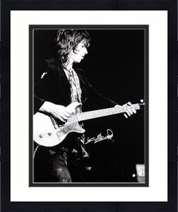 Keith Richards Rolling Stones Signed B & W 16X20 Photo BAS #A00352