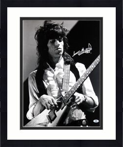 Keith Richards Rolling Stones Signed B & W 16X20 Photo BAS #A00358