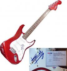 Keith Richards Rolling Stones signed fender squier guitar autograph PSA /DNA COA