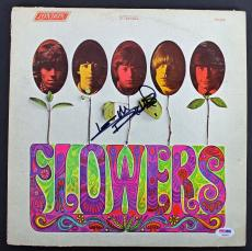 Keith Richards Rolling Stones Signed 'Flowers' Album Cover W/ Vinyl PSA #AB04433