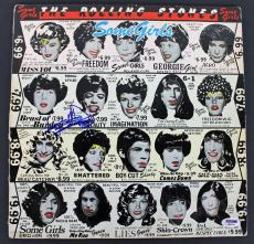 Keith Richards Rolling Stones Signed Some Girls Album Cover W/ Vinyl PSA AB08108