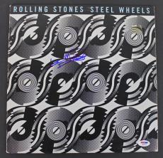Keith Richards Rolling Stones Signed 'Steel Wheels' Album Cover PSA/DNA #AB08109