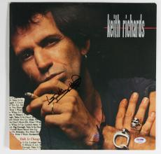 Keith Richards Rolling Stones Signed 'Talk Is Cheap' Album Cover PSA #AB04430