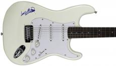 Keith Richards Rolling Stones Signed White Fender Squier Guitar BAS #A00398