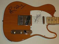 KEITH RICHARDS & RONNIE WOOD of The Rolling Stones Signed FENDER GUITAR PSA DNA