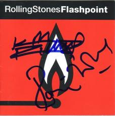 KEITH RICHARDS & RONNIE WOOD signed *ROLLING STONES* FLASHPOINT cd cover W/COA