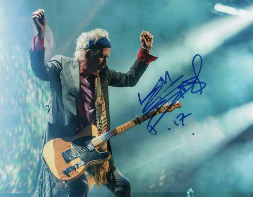 Keith Richards Signed Autograph 11x14 Photo - Rolling Stones, Rock N Roll Legend