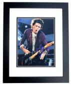 Keith Richards Signed - Autographed The Rolling Stones Guitarist 8x10 inch Photo BLACK CUSTOM FRAME - Guaranteed to pass PSA or JSA