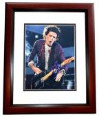 Keith Richards Signed - Autographed The Rolling Stones Guitarist 8x10 inch Photo MAHOGANY CUSTOM FRAME - Guaranteed to pass PSA or JSA
