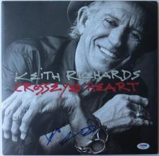 Keith Richards Signed Crosseyed Heart Autographed Album Cover w/ Vinyl PSA/DNA