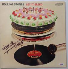 Keith Richards signed rolling stones album let it bleed with psa dna loa
