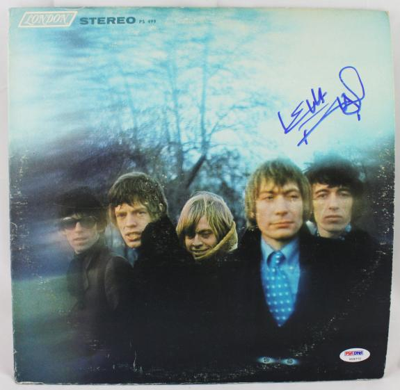 "Keith Richards Signed Rolling Stones ""between The Buttons"" Record Psa/dna V09772"