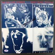 Keith Richards Signed Rolling Stones Emotional Rescue Album Cover PSA #AA01976