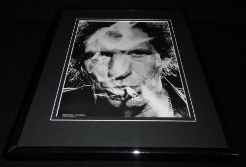 Keith Richards Smoking Framed 11x14 Photo Display Rolling Stones
