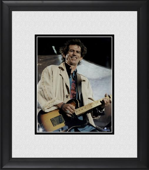 "Keith Richards The Rolling Stones Framed 8"" x 10"" Performing on Stage Photograph"