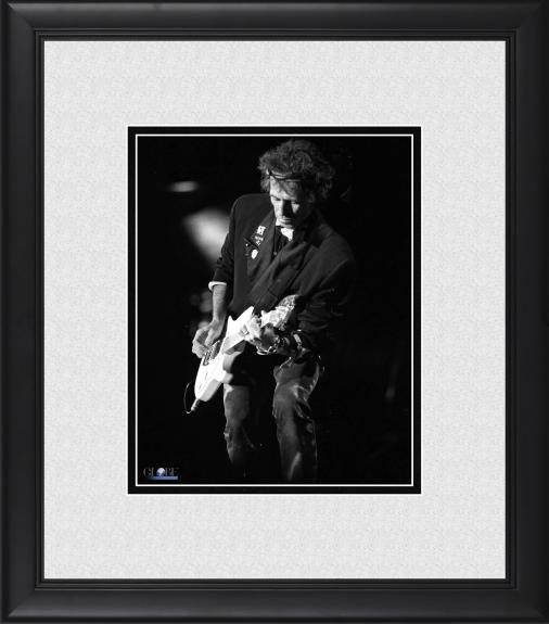 "Keith Richards The Rolling Stones Framed 8"" x 10"" Playing Concert in Queens Photograph"