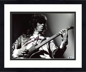 Keith Richards The Rolling Stones Signed 11x14 Photo BAS #A78890