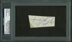 Keith Richards The Rolling Stones Signed 1.25X2.5 Cut PSA/DNA Slabbed
