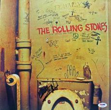 Keith Richards The Rolling Stones Signed Album Cover W/ Vinyl Psa/dna #u03500