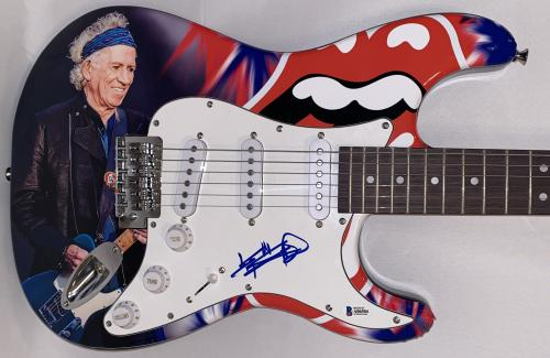 Keith Richards The Rolling Stones Signed Full Size Custom Electric Guitar Bas