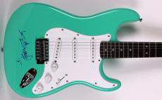Keith Richards The Rolling Stones Signed Green Fender Squier Guitar BAS #A00997