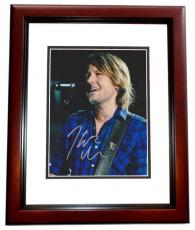 Keith Urban Signed - Autographed Concert 8x10 Photo - American Idol Judge - Country Singer - MAHOGANY CUSTOM FRAME